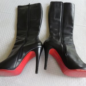 Christian Louboutin Knee High Black Boots Size 39